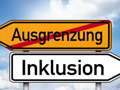 Inklusion, Ausgrenzung, Menschen mit Behinderungen